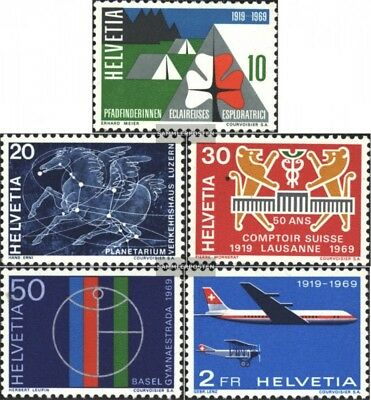 Switzerland 895-899 (complete.issue) unmounted mint / never hinged 1969 Years ev