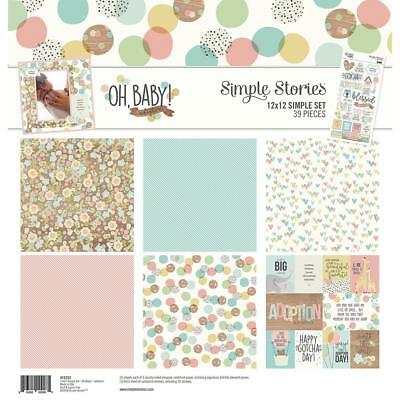 Simple Stories Simple Set Collection Kit - OH, BABY! ADOPTION - papers stickers
