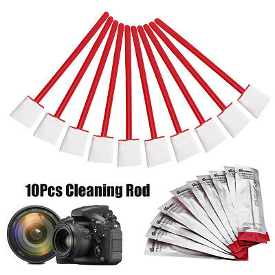 10Pcs Cleaning Swab APS-C Sensor Camera DSLR Lens Clean Rod For Nikon Canon Sony