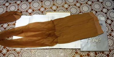 Vintage New in Box Pantyhose Mesh Nylons 'Bold Tan' 3-M Support Hose Seamless