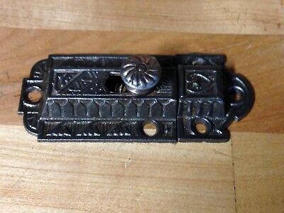 Antique Vintage Cast Iron Victorian Eastlake Door Latch Lock Part