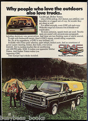 1979 GMC PICKUP advertisement, GMC pick-up, with soft-top camper top