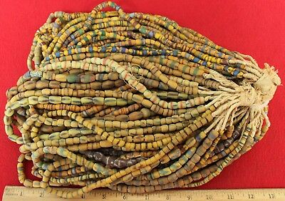 Bundle of (50) Strands of Sandcast Trade Beads #12....Buy It Now
