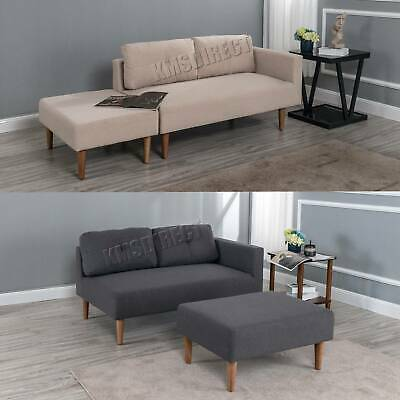 Sensational Westwood Fabric Sofa With Stool Footrest 2 3 Seater Chaise Short Links Chair Design For Home Short Linksinfo