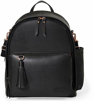 Skip Hop GREENWICH SIMPLY CHIC BACKPACK CHANGING BAG - BLACK Baby Bag BN