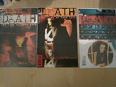 DEATH :TIME of your LIFE complete 3 ISSUE SERIES by GAIMAN, BACHALO.VERTIGO.1996