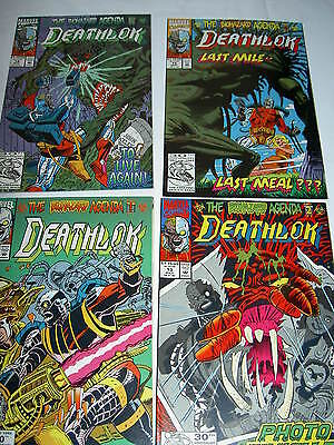 "DEATHLOK : ""The BIOHAZARD AGENDA"". Complete 4 issue story. MARVEL. 1992"