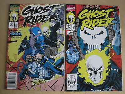 Ghost Rider VoL 2 issues 5 & 6 : COMPLETE 2 ISSUE PUNISHER STORY. MARVEL. 1990