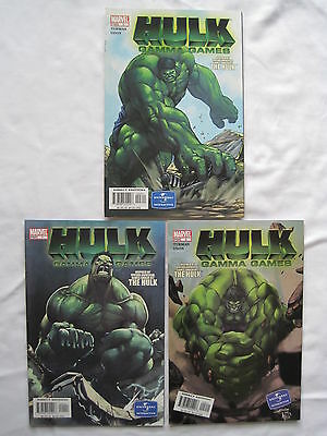 "HULK : ""GAMMA GAMES"" COMPLETE 3 ISSUE SERIES by TURMAN,PEREZ, CAMPUS.MARVEL.2004"
