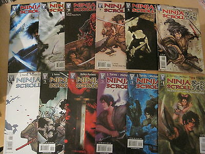 NINJA SCROLL, the ANIME SAGA CONTINUES: COMPLETE 12 ISSUE SERIES. WILDSTORM.2006
