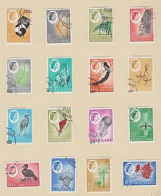 SWAZILAND 92-107 1962 Queen Eliz set complete used