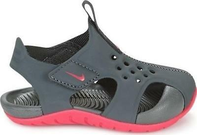 662140bf4 Girl s Toddler NIKE SUNRAY PROTECT 2 Gray+Pink Athletic Water Sandals Shoes  NEW