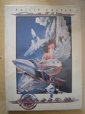 """PHILIP CASTLE : """"AIRFLOW"""" & """"AIRSHOW"""". 2 x OUTSIZE GRAPHIC COLLECTIONS. 1980"""
