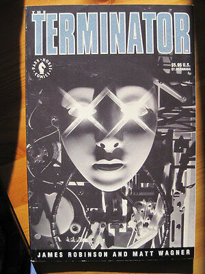 The TERMINATOR GRAPHIC NOVEL WITH PULL OUT by ROBINSON & WAGNER. DARK HORSE.1991