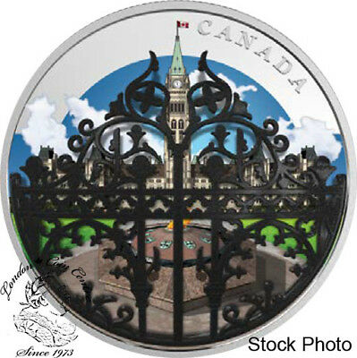 Canada 2018 $30 The Queen's Gate: Formal Entrance to Parliament Hill 2 oz Silver