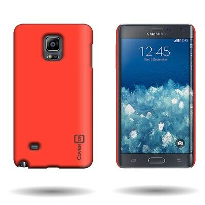 Neon Orange Hard Case for Samsung Galaxy Note Edge - Slim Snap On Back Cover