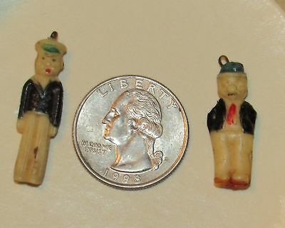 Popeye The Sailor Man and Wimpy Celluloid Charms Early Vintage 1930 S