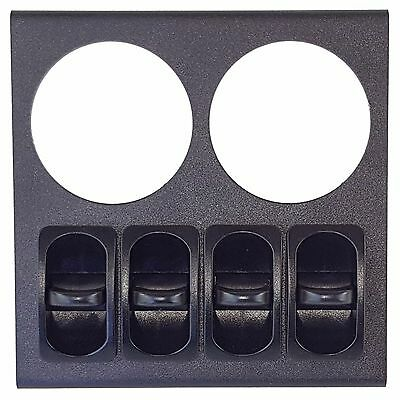 Air Ride Suspension Dual Gauge Display Panel 4 Paddle Switches No Gauges