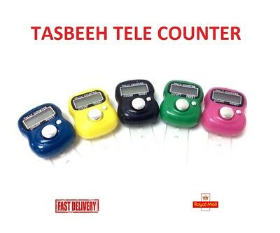 Finger Ring Electronic Digital Tasbeeh Tasbih Tally Counter Beads Islam Timer