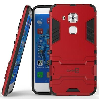 For Huawei Nova Plus Hard Case Red / Black Kickstand Protective Phone Cover