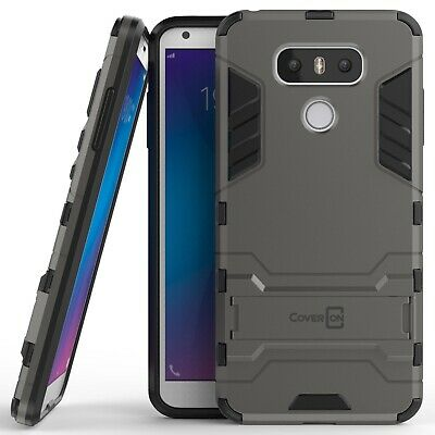 For LG G6 / G6 Plus Hard Case Gray / Black Kickstand Protective Phone Cover