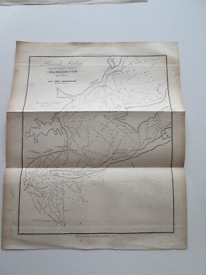 """1854 E. & G. W. BLUNT CHART  """"PENSACOLA HARBOUR"""" 8"""" wide by 10"""" tall."""