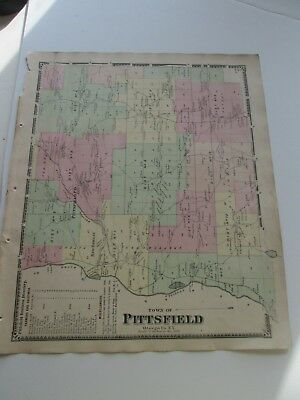 "1868 Antique Map, F. W. Beers, Otsego Co. Atlas, ""Town Of Pittsfield""."