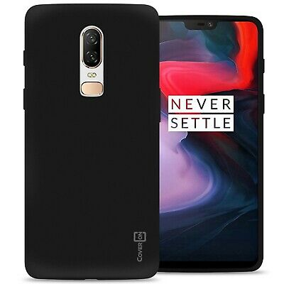 Black Case for OnePlus 6 Flexible Shockproof Slim Rubber TPU Cover