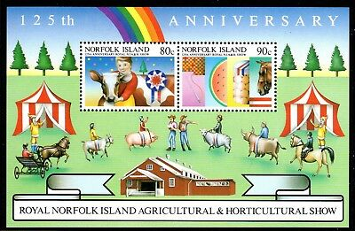 1985 NORFOLK ISLAND AGRICULTURAL SHOW minisheet MS373 mint unhinged
