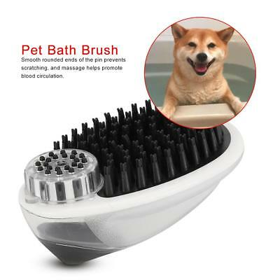 Dog Bath Brush Grooming Comb Pet Shampoo Brush with Storage for Dogs and Cats