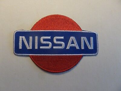 NISSAN AUTO red&blue & white Embroidered 3 x 4-1/2 Iron On Patch
