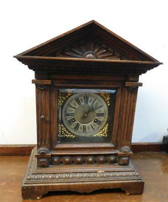 junghans oak cased bracket clock c1900s