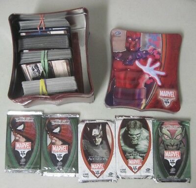 2004 Upper Deck Marvel Trading Card Game In Magneto Metal Tin Box