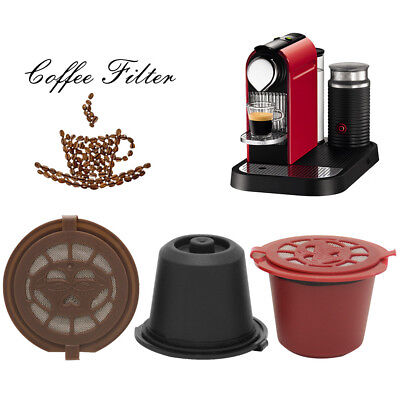 2018 Refillable Reusable Coffee Capsules Pods For Nespresso Machines Filter AU