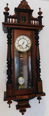 walnut & ebonised striking vienna wall clock