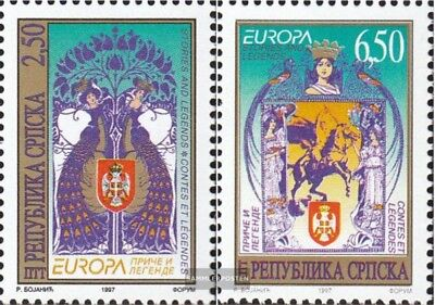 Serbian Republic bos.-h 69-70 mint never hinged mnh 1997 Europe: Say and Legends