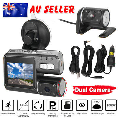 Mini Dual Car Camera True HD 1080P G-sensor Recorder Crash Cam Dash DVR Video