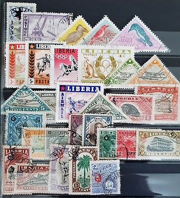Liberia Mint and Used All Different Classic Stamps Collection Lot #8