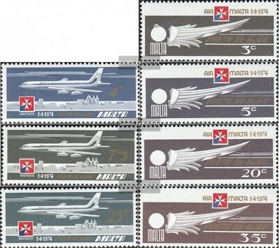 Malta 486-492 (complete issue) unmounted mint / never hinged 1974 Air Malta