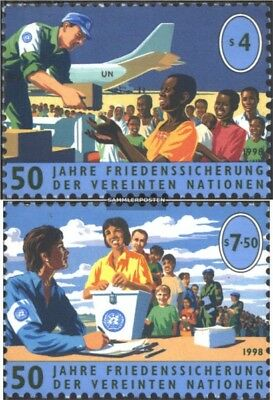 UN-Vienna 266-267 (complete issue) used 1998 Peacekeeping