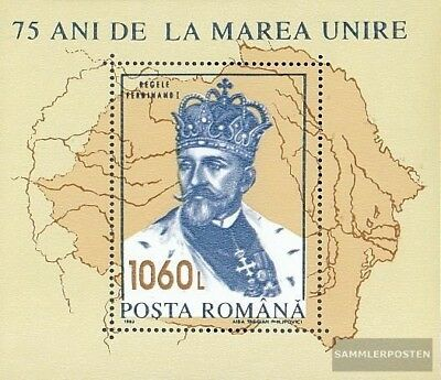 Romania Block286b unmounted mint / never hinged 1993 King Ferdinand I.