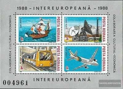 Romania block240 (complete issue) unmounted mint / never hinged 1988 INTEREUROPA