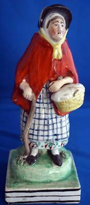 "Antique  Staffordshire 19C British Pottery Figure ""Old Age"""