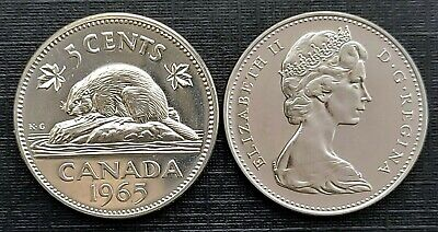 Canada 1965 Five Cents Proof Like Gem!!