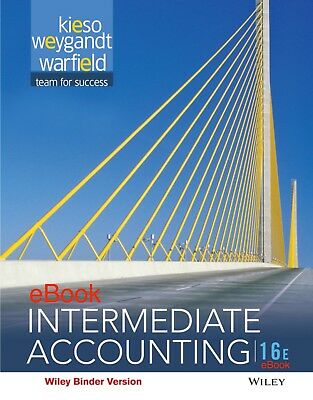 Intermediate Accounting 16th sixteenth Edition by Kieso *eBook**