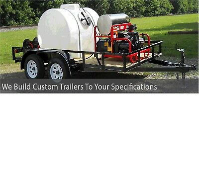 Pressure Washing Trailer, Trailer Mounted Power Washer Trailer for Sale Buy Now!