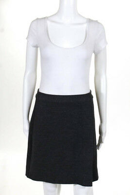 Marc By Marc Jacobs Gray Wool Pleat Detail Mini Skirt Size Small