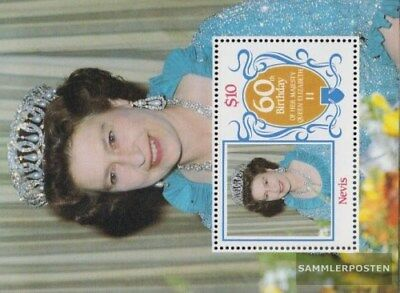 Nevis block10 (complete.issue.) unmounted mint / never hinged 1986 Queen Elizabe