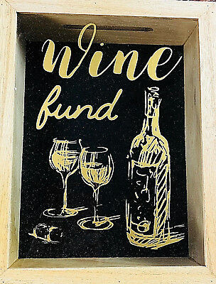 French Provincial ~ Wine Funds ~ Wooden ~ Glass ~ Shadow Money Box