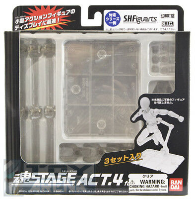 Tamashii Stage Act 4 for Humanoid Clear Bandai USA IN STOCK (3 STANDS PER SET)